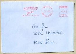 FRANCE Poule, Gallinacée, Coq, Empreinte Mecanique ALPOEUF 29/05/1995 - Gallinacées & Faisans