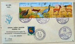 TURQUIE Faisan, Oiseaux, Mammiferes (Yvert N°2270/74) FDC 03/12/1979 A Ankara - Gallinacées & Faisans