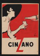Pub Papier 1954 Boisson Aperitif CINZANO Dessin René Gruau Femme Pin Up - Advertising