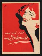 Pub Papier 1954 Boisson Aperitif BUBONNET  Dessin René Gruau Femme Pin Up - Advertising