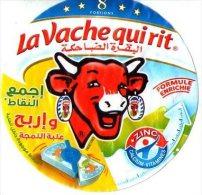"""Étiquette De Boite De Fromage  """" La Vache Qui Rit""""-8 Portions - Fromage"""