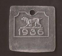 Schiedam / Roterdam HONDEN PENNING / DOG TOKEN / AMULET POUR CHIEN 1936 - Pays-Bas