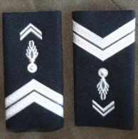 1 Paire De Fourreaux D'epaule SOC Galons Argenté Gendarmerie - Police & Gendarmerie