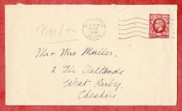 Brief, EF Koenig Eduard, Barnstaple Nach West Kirby 1936 (50621) - Briefe U. Dokumente