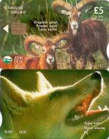 CYPRUS PHONECARD CYPRUS MOUFFLON FOX, 4/02-90000pcs-0702CY-USE D - Telefoonkaarten