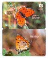CYPRUS PHONECARD LESSER FIERY COOPER 9/01-120000pcs 1101CY-USED - Papillons