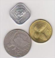 3 Münzen NG Pilipinas, 1, 25, 50 Centimos, 1975, 1990, 1986, Vzgl., Ansehen - Philippinen