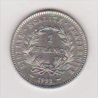 Münze Von Frankreich, 1 Franc,1992, Vzgl.,ansehen - Brasilien