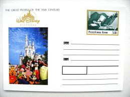 Postal Stationery Card From Russia The Great People Of The XXth Cent. Disney Walt Animation - Disney
