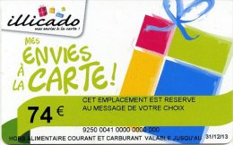 @+ Carte Cadeau - Gift Card : ILLICADO SPECIMEN - Envies à La Carte -  74 €.