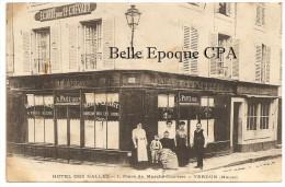 55 - VERDUN - Hôtel Des Halles - 1, Place Du Marché Couvert / G. FRITZ ++++++ 1910 +++++++++ RARE / JAMAIS Sur Delcampe - Verdun