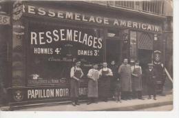 Photo Ancienne  Format Carte POSTALE - CORDONNERIE GELPE René à  PARIS En 1912 - Foto