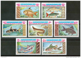 1983 Kampuchea Pesci Fish Fische Poissons Set MNH** Po57 - Kampuchea