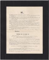 5e Cie De POLICE MILITAIRE à LIEGE (Belgique) - Faire-part D'un Milicien De La Classe 1951. - Faire-part