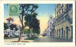 4cp892: CUBA : Paseo De Marti Habana - Cartes Postales