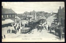 Cpa Du 80 Fort Mahon  L' Avenue De La Plage  ..  Train   LEG11 - Fort Mahon