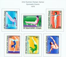 BULGARIA  -  1979  Olympic Games  Mounted Mint - Bulgaria