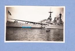 Photo Ancienne - ALGER - Beau Bateau Militaire - Navire De La Marine De Guerre Anglaise - Années 30 - Armée Anglaise - Barcos