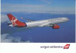 Virgin Atlantic Airlines, Commericial Jet Plane C2000s Vintage Postcard - 1946-....: Moderne
