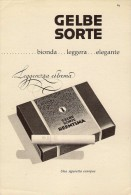 # GELBE SORTE CIGARETTES Deutschland 1950s Advert Pubblicità Publicitè Reklame Sigarette Cigarrillos Zigaretten Tabak - Sonstige