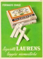 # ED.LAURENS CIGARETTES NEDERLAND 1950s Advert Pubblicità Publicitè Reklame Sigarette Cigarrillos Zigaretten Tabak - Sigaretten - Toebehoren
