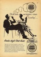 # LUCKY STRIKE CIGARETTES U.S.A. 1950s Advert Pubblicità Publicitè Reklame Sigarette Cigarrillos Zigaretten Tabak - Around Cigarettes