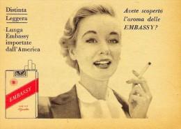 # EMBASSY CIGARETTES U.S.A. 1950s Advert Pubblicità Publicitè Reklame Sigarette Cigarrillos Zigaretten Tabak - Other