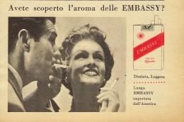 # EMBASSY CIGARETTES U.S.A. 1950s Advert Pubblicità Publicitè Reklame Sigarette Cigarrillos Zigaretten Tabak - Around Cigarettes