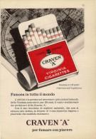 # CRAVEN A CIGARETTES U.K. ENGLAND 1950s Advert Pubblicità Publicitè Reklame Sigarette Cigarrillos Zigaretten Tabak - Sonstige