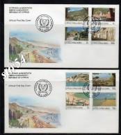Cyprus FDC 1985 Definitive Set. - Lettres & Documents