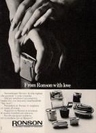 #  RONSON LIGHTERS U.K. 1960s Advert Pubblicità Publicitè Reklame Sigarette Cigarrillos Zigaretten Tabak Accendini - Lighters