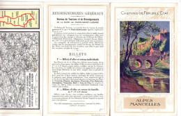 """Publicité Chemins De Fer De L´Etat """"Alpes Mancelles"""" France (912) - Publicités"""