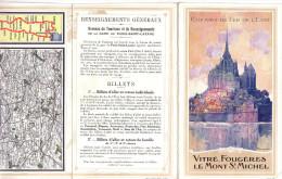 """Publicité Chemins De Fer De L´Etat """"Vitré, Fougères, Le Mont Saint Michel"""" France (913) - Publicités"""