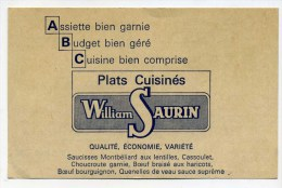 CPA  Publicité   WILLIAM  SAURIN   A   VOIR   !!!! - Advertising