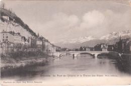 Carte Postale Ancienne De Grenoble - Le Pont De L'Hôpital Et La Chaîne Des Alpes - Grenoble
