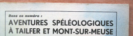 """Magazine Avec Article """"Aventures Spéléologiques à Tailfer Et Mont-sur-Meuse"""" 1966 - Vieux Papiers"""