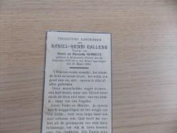 Doodsprentje Daniel Henri Callens Wervik 16/8/1942 - 14/3/1943 ( Z.v. Henri En Marcella Serruys) - Religión & Esoterismo