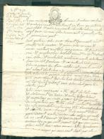 Cachet Généralité D'indre Et Loire , Document De 1793 , La Loi Le Roi , Minute 4 Sol - Pho15601 - Seals Of Generality