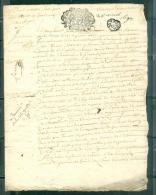 Cachet Généralité De Tours  Daté Du 28 Aout 1693 - Pho15602 - Seals Of Generality