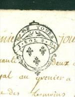 Cachet Généralité De Tours  1 Sol 8 Deniers , Daté En 1752  - Pho15606 - Seals Of Generality