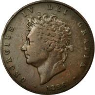 Monnaie, Grande-Bretagne, George IV, 1/2 Penny, 1826, TTB, Cuivre, KM:692 - 1816-1901 : Frappes XIX° S.