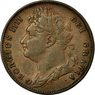 Monnaie, Grande-Bretagne, George IV, Farthing, 1826, TTB+, Cuivre, KM:677 - 1816-1901 : Frappes XIX° S.