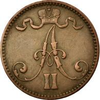 Monnaie, Finlande, Alexander II, 5 Pennia, 1866, TTB+, Cuivre, KM:4.1 - Finlande