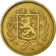 Monnaie, Finlande, 10 Markkaa, 1934, TTB+, Aluminum-Bronze, KM:32a - Finlande