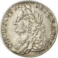 Monnaie, Grande-Bretagne, George II, Shilling, 1758, TTB+, Argent, KM:583.3 - 1662-1816 : Anciennes Frappes Fin XVII° - Début XIX° S.