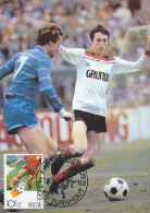 D16129 CARTE MAXIMUM CARD TRIPLE 1982 BELGIUM - SOCCER CP ORIGINAL - Soccer
