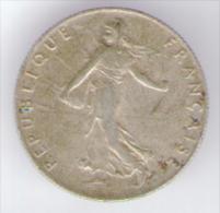FRANCIA 50 CENTIMES 1919 AG SILVER - Francia