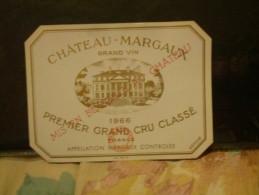 éttiquettes Chateaux Margaux - Unclassified
