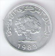 TUNISIA 5 MILLIM 1983 - Túnez