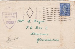 Censored British Field Post Cover From World War 2 - Unknown Unit And Date   (G60-47) - Militaria